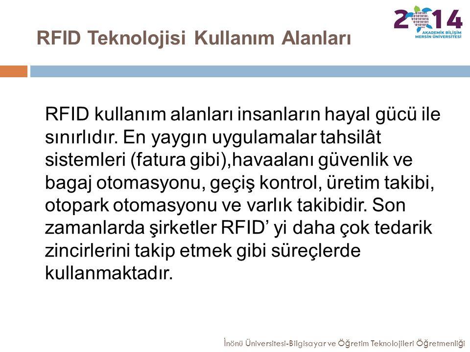 RFID Teknolojisi Kullanım Alanları RFID kullanım alanları insanların hayal gücü ile sınırlıdır. En yaygın uygulamalar tahsilât sistemleri (fatura gibi