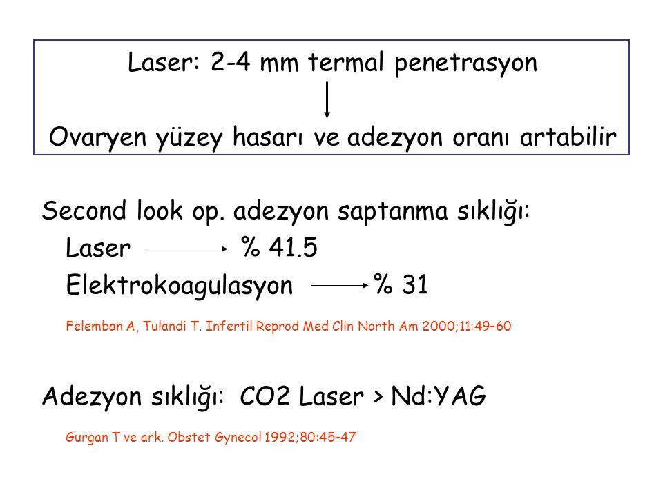 n= 60, 60 J/cm3 over dokusu, n= 60, 600 J/ over, 4 delik Gebe kalamayanlara 6.
