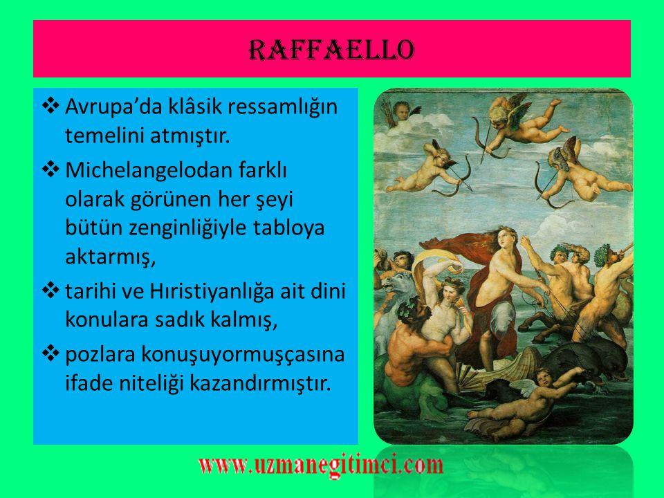 M İ CHELANGELO BUONARROT İ (1475-1564)  Ünlü İtalyan rönesans dönemi ressam, heykeltıraş, mimar ve şairidir.