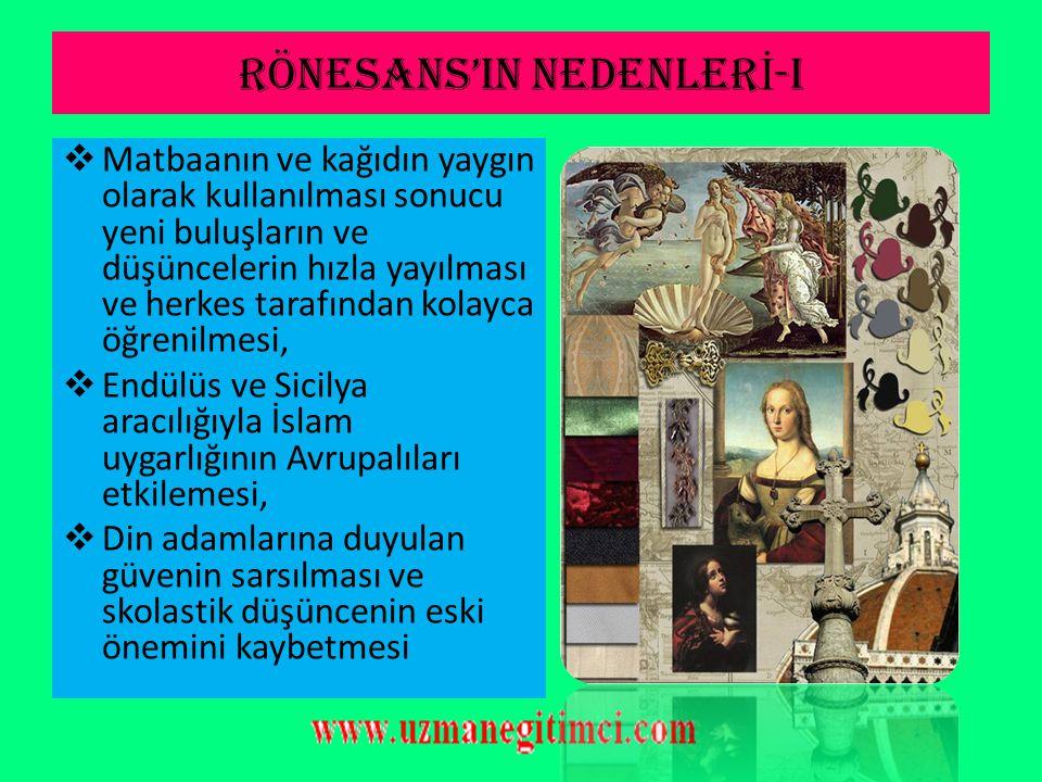"""RÖNESANS & HÜMAN İ ZMA İ L İŞ K İ S İ  Rönesans, Yunan ve Roma kültürünün araştırılması ile gerçekleşmiştir.  Bu araştırma Avrupa'da """"Hümanizm"""" hare"""