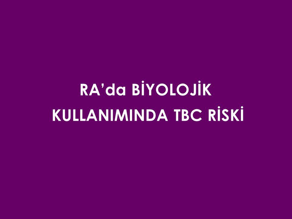 RA'da BİYOLOJİK KULLANIMINDA TBC RİSKİ