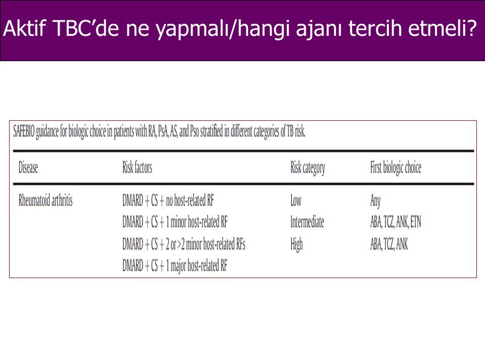 Aktif TBC'de ne yapmalı/hangi ajanı tercih etmeli?