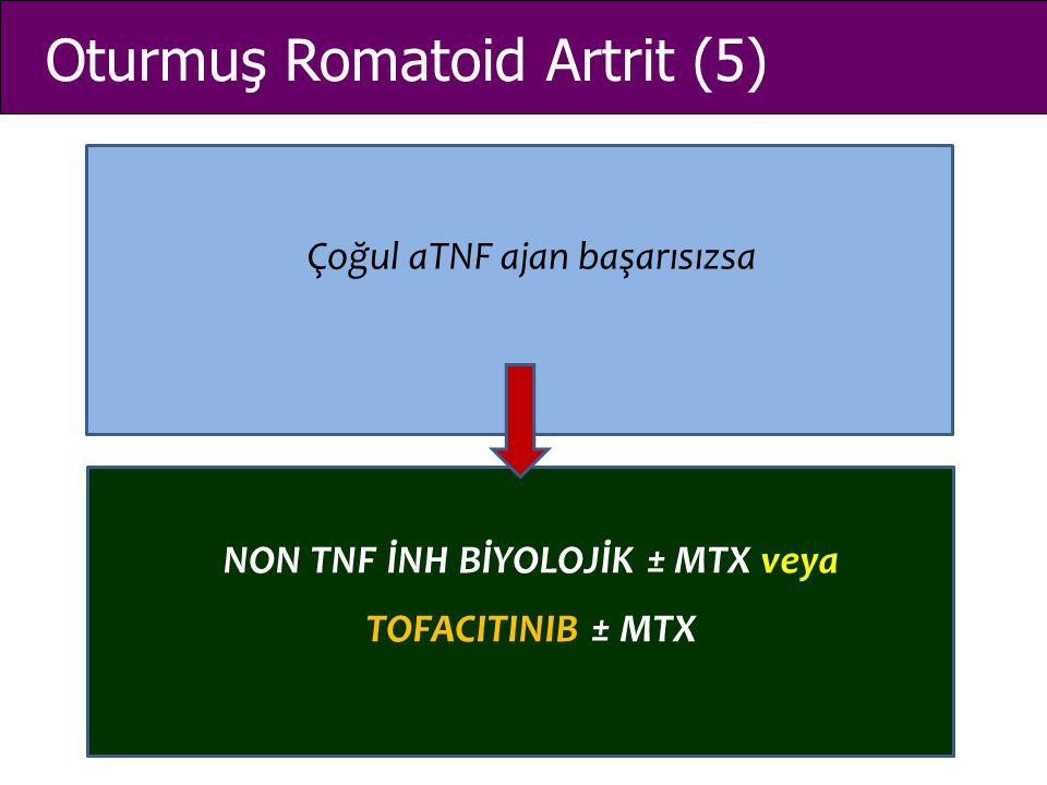 Oturmuş Romatoid Artrit (5) Çoğul aTNF ajan başarısızsa NON TNF İNH BİYOLOJİK ± MTX veya TOFACITINIB ± MTX