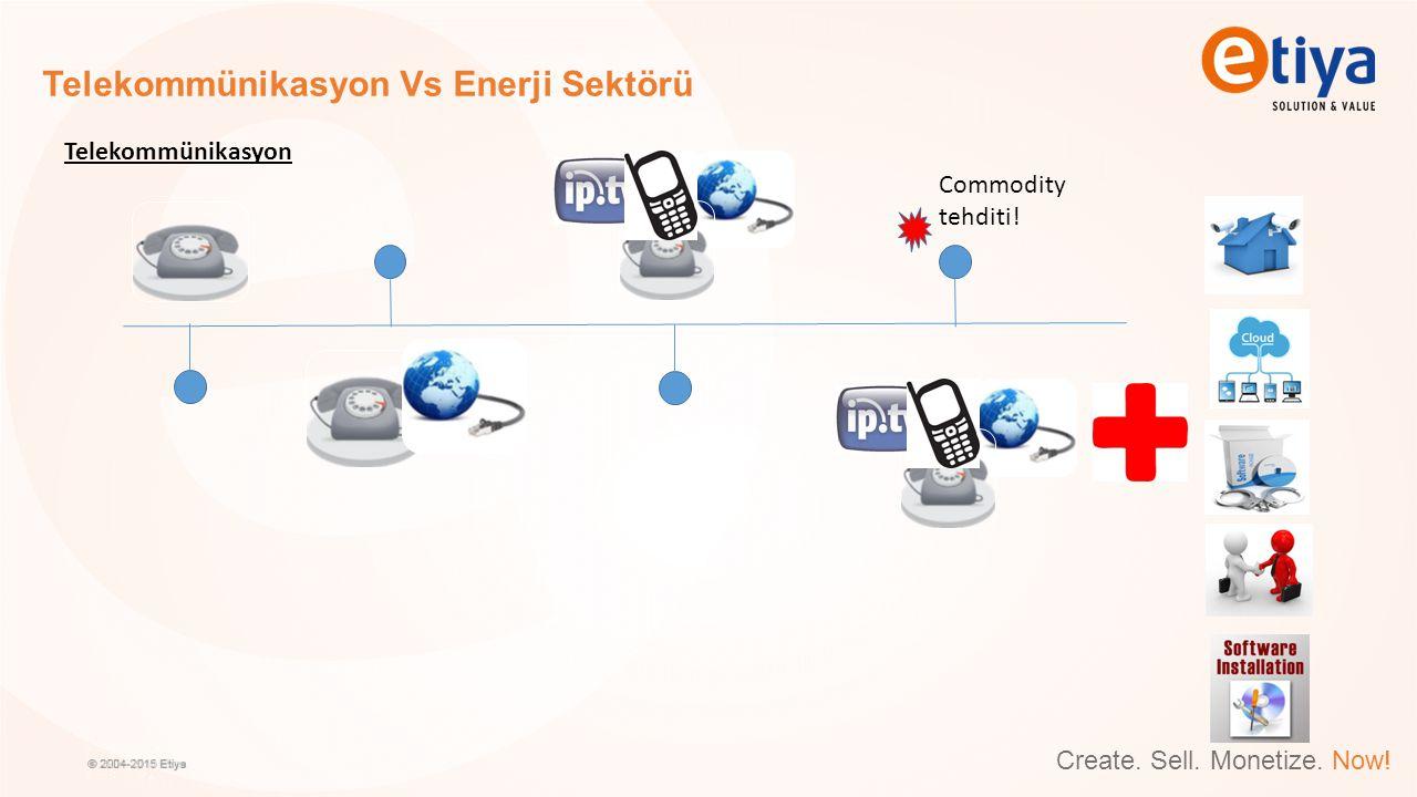Create. Sell. Monetize. Now! Telekommünikasyon Vs Enerji Sektörü Telekommünikasyon Commodity tehditi!