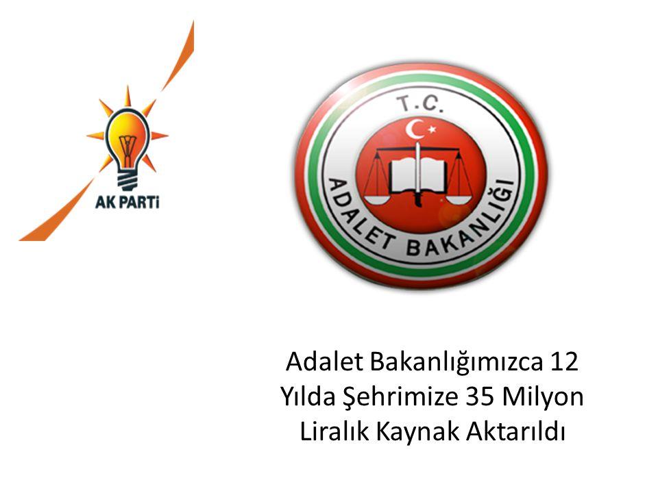 Adalet Bakanlığımızca 12 Yılda Şehrimize 35 Milyon Liralık Kaynak Aktarıldı