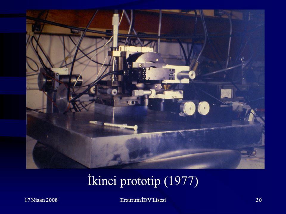 17 Nisan 2008Erzurum İDV Lisesi30 İkinci prototip (1977)