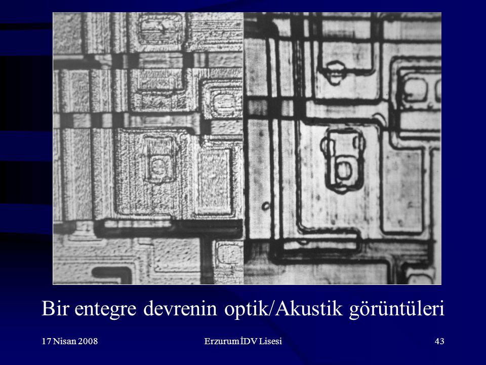 17 Nisan 2008Erzurum İDV Lisesi43 Bir entegre devrenin optik/Akustik görüntüleri