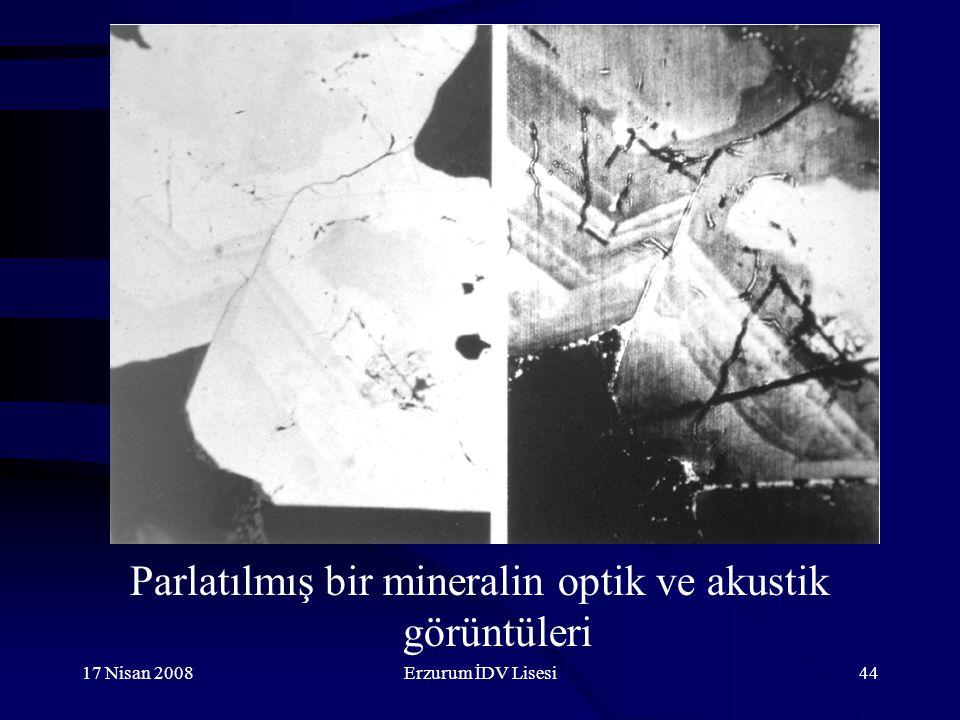 17 Nisan 2008Erzurum İDV Lisesi44 Parlatılmış bir mineralin optik ve akustik görüntüleri