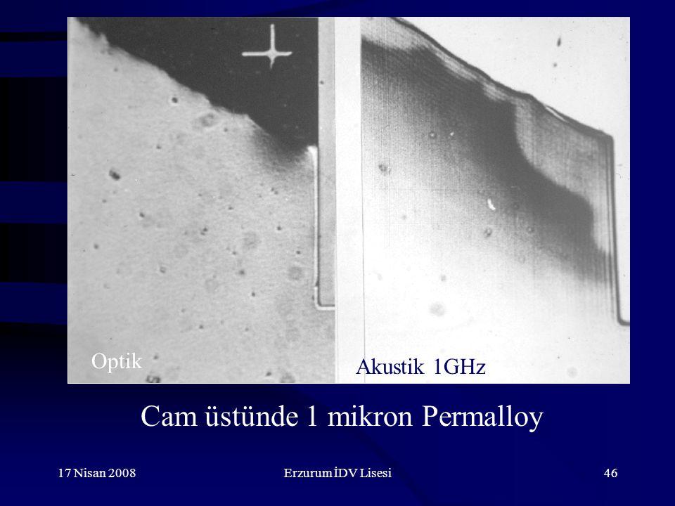 17 Nisan 2008Erzurum İDV Lisesi46 Cam üstünde 1 mikron Permalloy Optik Akustik 1GHz