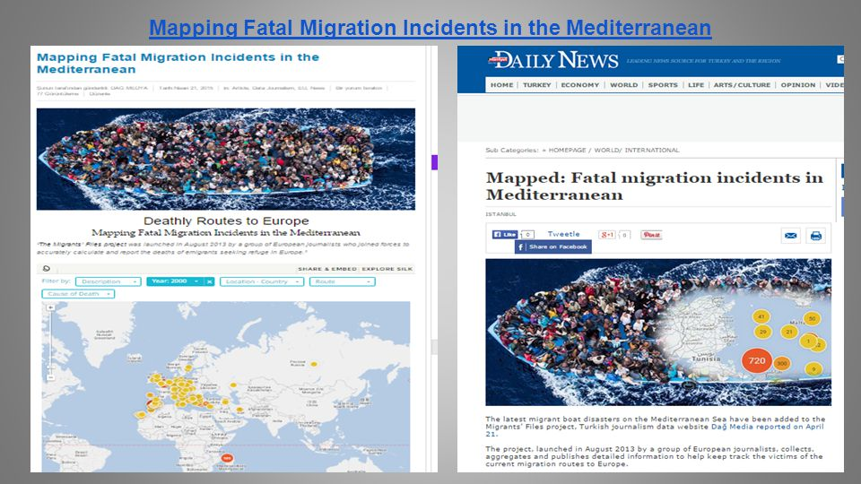 Mapping Fatal Migration Incidents in the Mediterranean
