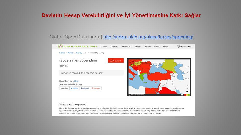Devletin Hesap Verebilirliğini ve İyi Yönetilmesine Katkı Sağlar Global Open Data Index | http://index.okfn.org/place/turkey/spending/http://index.okfn.org/place/turkey/spending/