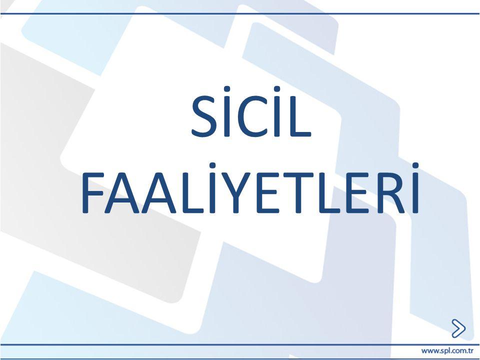 SİCİL FAALİYETLERİ