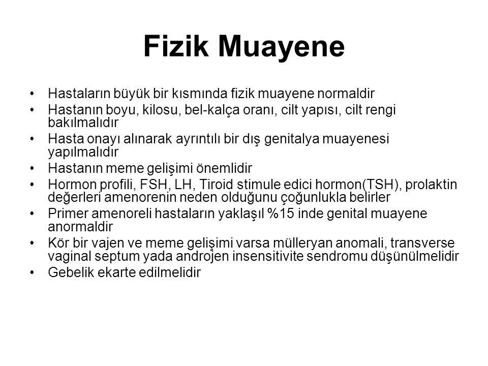 Nedenleri I.Anatomik bozukluklar II. Primer hypogonadizm III.