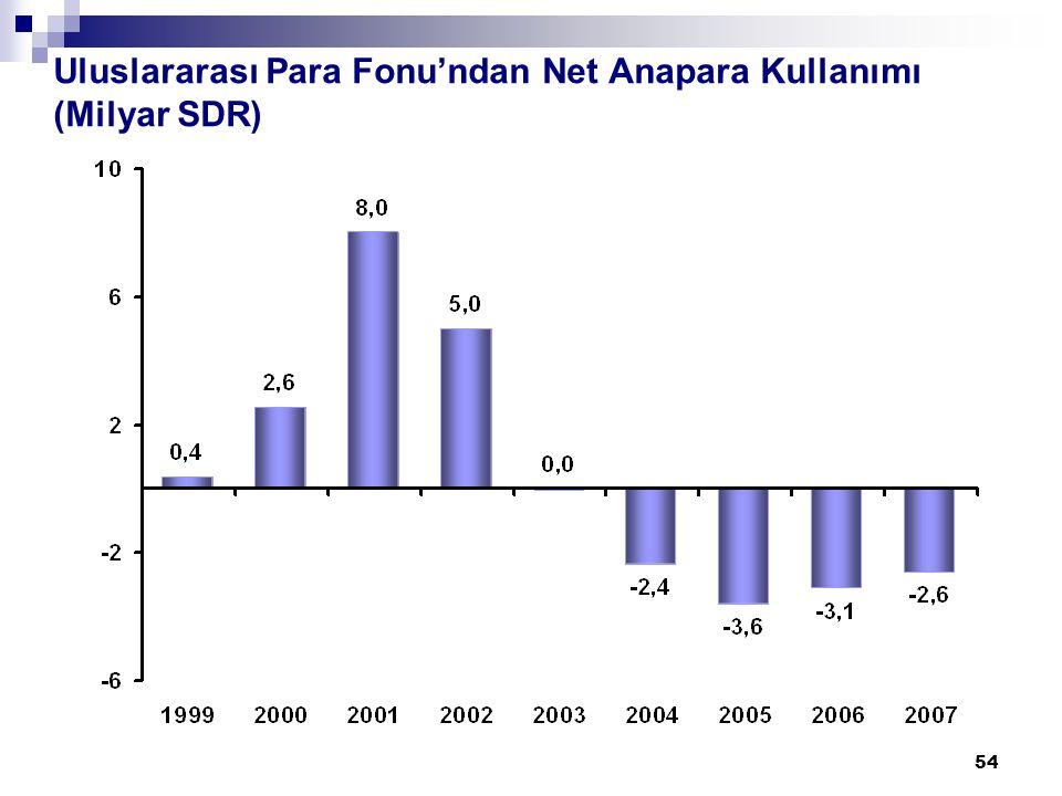 54 Uluslararası Para Fonu'ndan Net Anapara Kullanımı (Milyar SDR)
