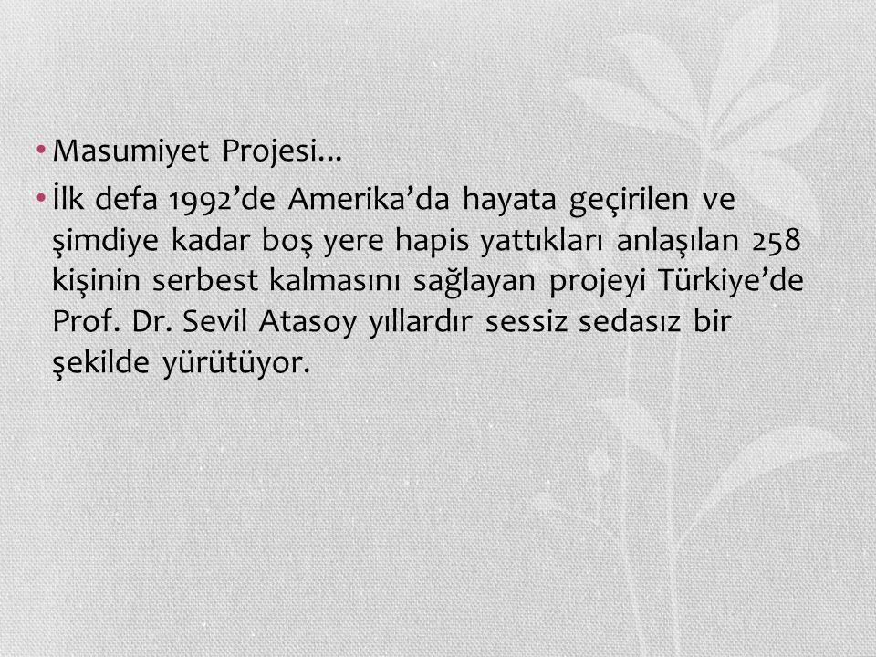 Masumiyet Projesi...