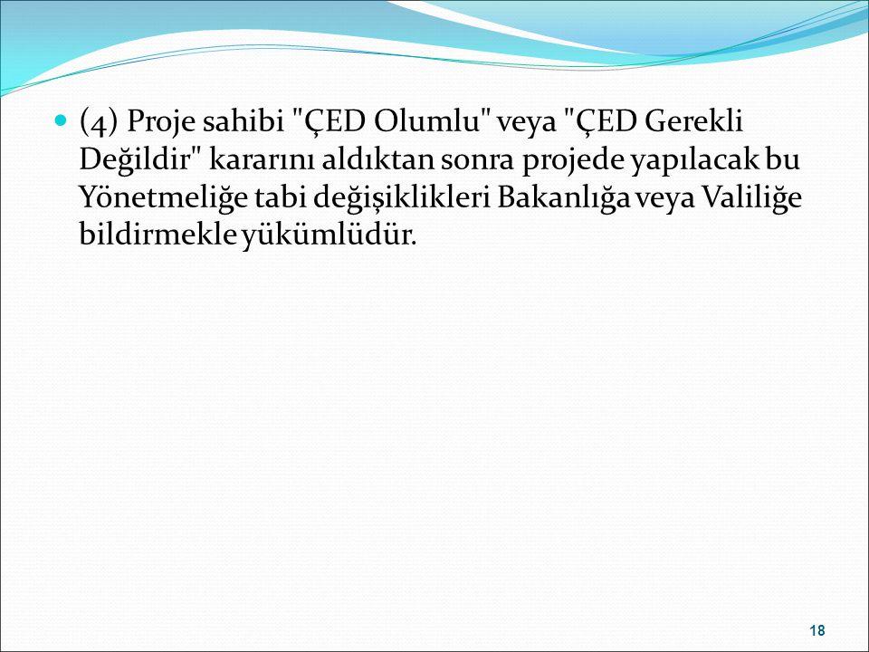 (4) Proje sahibi