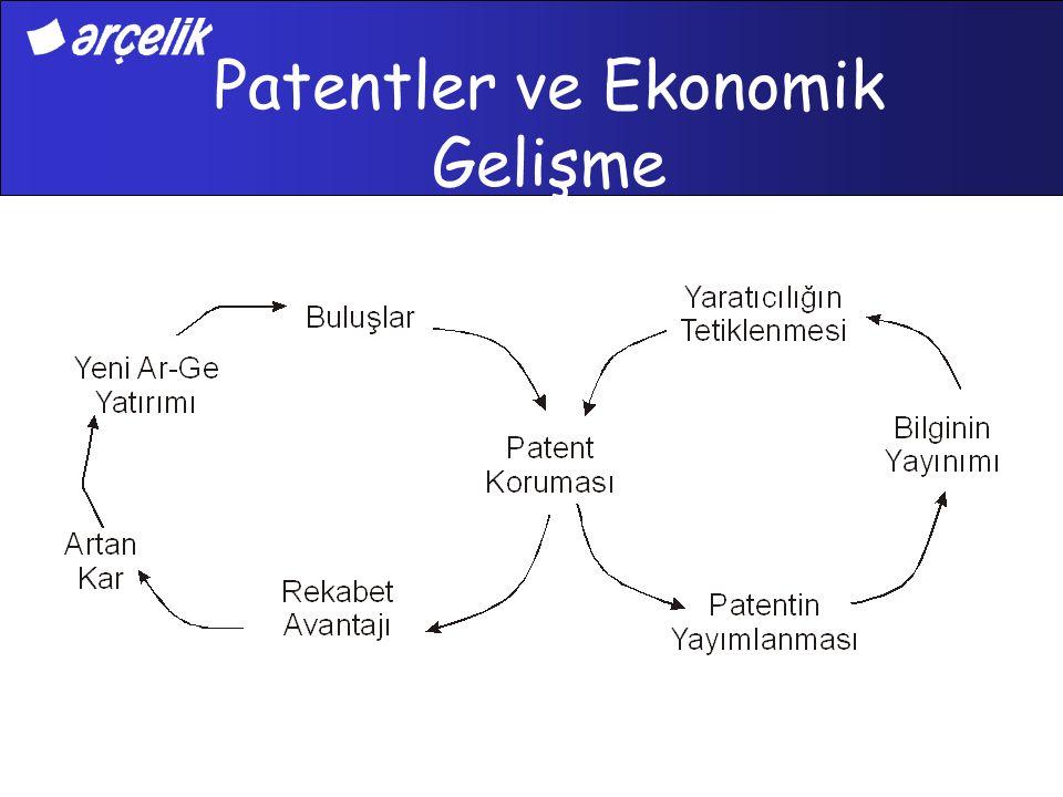 Patent Dokümanları Patent veri tabanlarında 30 milyondan fazla patent dokümanı yer almaktadır Patentlerde yayımlanan bilgilerin %70'i başka bir yerde yayımlanmamaktadır Her yıl ABD, Japonya ve Avrupa patent ofislerine yaklaşık 800,000 yeni patent başvurusu yapılmaktadır