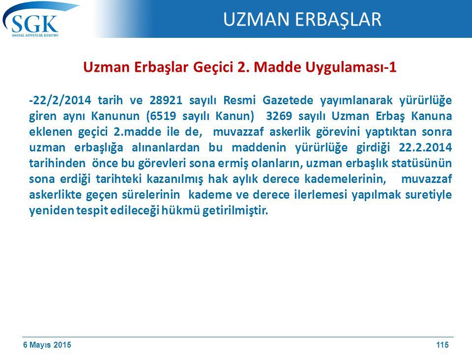 6 Mayıs 2015 Uzman Erbaşlar Geçici 2.