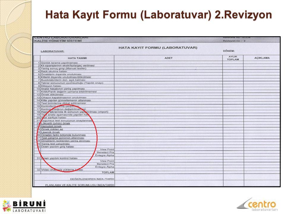 Hata Kayıt Formu (Laboratuvar) 2.Revizyon