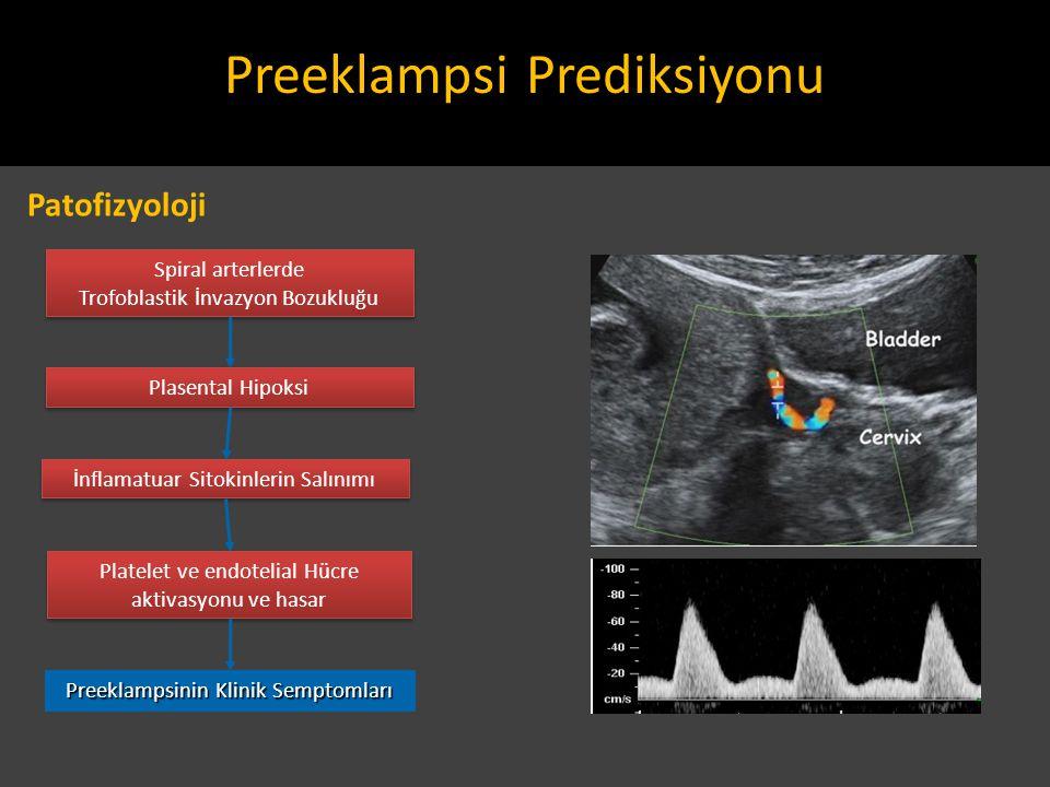 Spiral arterlerde Trofoblastik İnvazyon Bozukluğu Spiral arterlerde Trofoblastik İnvazyon Bozukluğu Plasental Hipoksi İnflamatuar Sitokinlerin Salınım