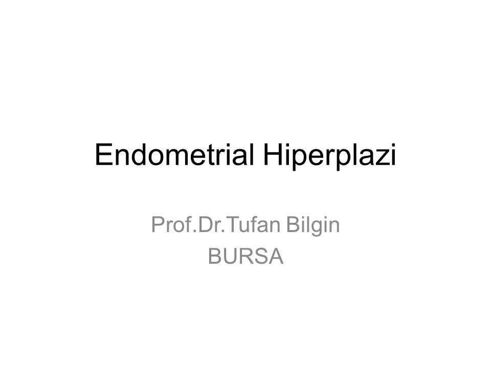 Endometrial Hiperplazi Prof.Dr.Tufan Bilgin BURSA