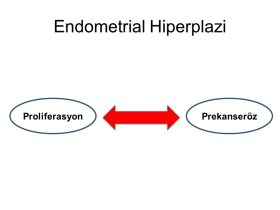 Polip'te Komşu Endometrial Patoloji Ofis histeroskopi ile polip tanısı konan hastalara operatif histeroskopi ile polipektomi yapılmış Normal görünümlü endometriumdan en az 2 biopsi alınmış Metot; Rahimi S, Int J Gynecol Pathol, 2009