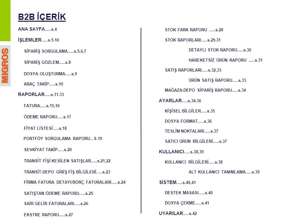 RAPORLAR / SATIŞ RAPORLARI / ÜRÜN SATIŞ P34 Rapor Çıktısı: