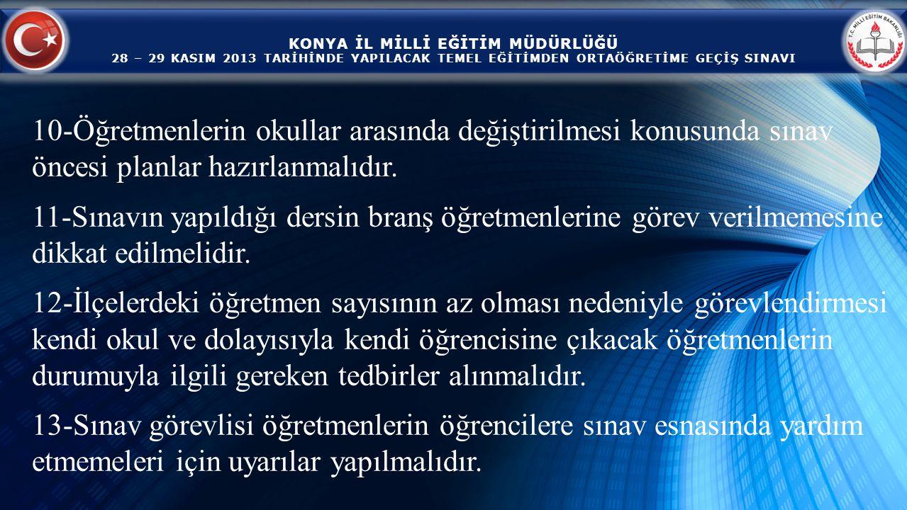 KONYA İL MİLLİ EĞİTİM MÜDÜRLÜĞÜ 28 – 29 KASIM 2013 TARİHİNDE YAPILACAK TEMEL EĞİTİMDEN ORTAÖĞRETİME GEÇİŞ SINAVI Mustafa UYSAL Şube Müdürü TEŞEKKÜR EDERİM.