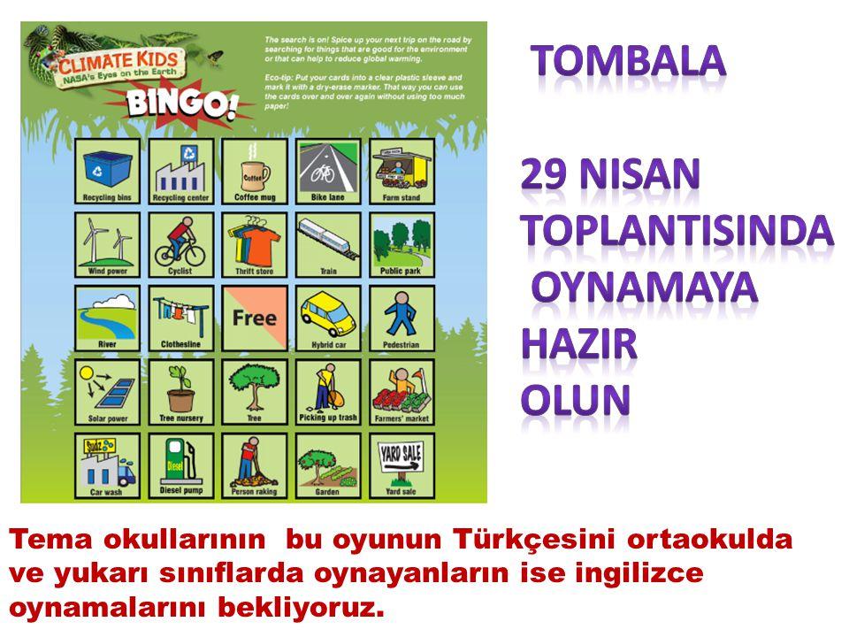 Tema okullarının bu oyunun Türkçesini ortaokulda ve yukarı sınıflarda oynayanların ise ingilizce oynamalarını bekliyoruz.