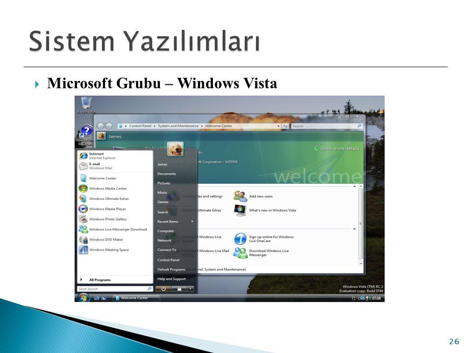  Microsoft Grubu – Windows Vista 26