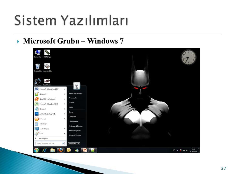  Microsoft Grubu – Windows 7 27