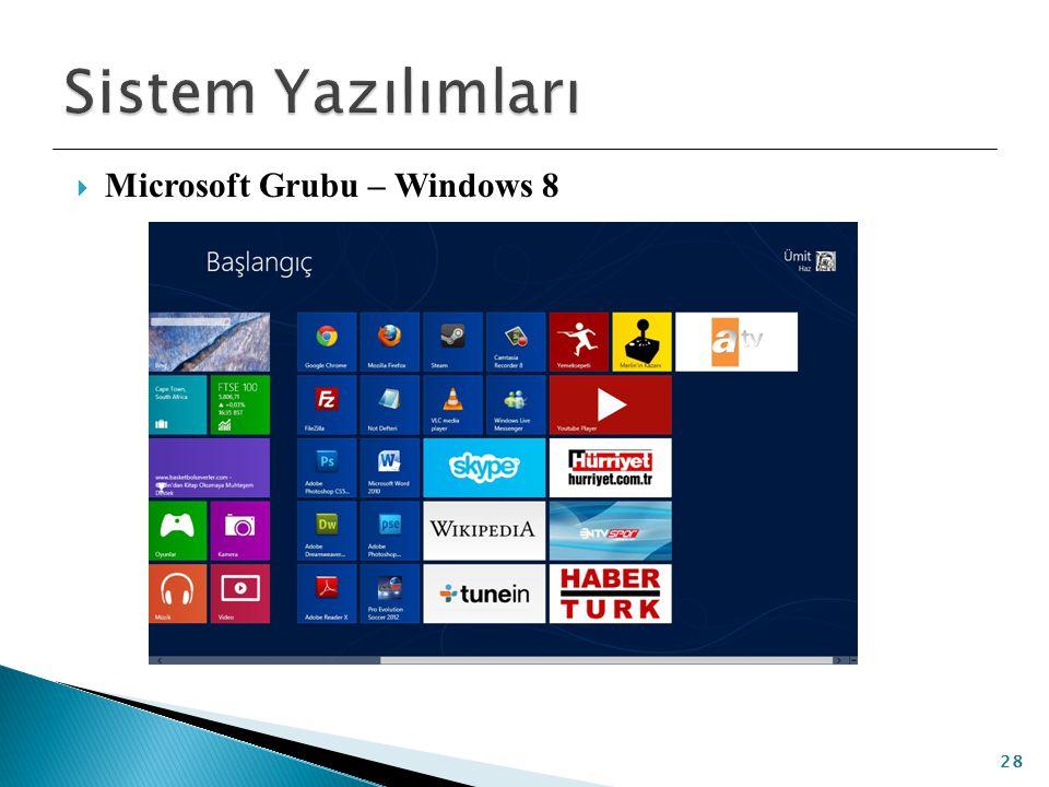  Microsoft Grubu – Windows 8 28
