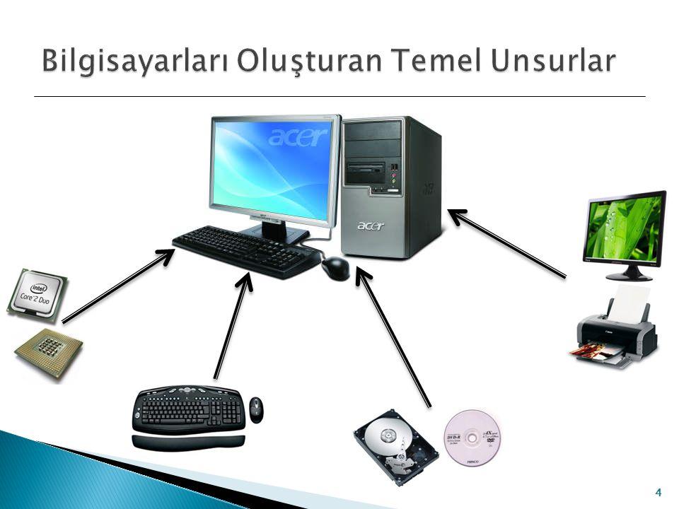  Bilgisayara dış ortamdan veri girilmesini sağlayan birimlere giriş birimleri denir.