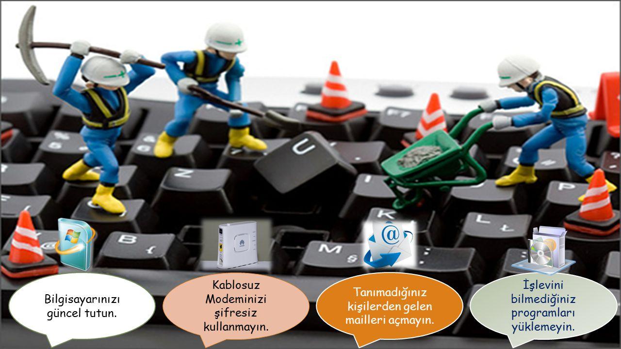 Güvenli çıkış yöntemlerini kullanmayı unutmayın. MSN ve diğer sosyal ağlarda kimseye para ve kontör göndermeyin. Profilinizde size ait önemli bilgiler