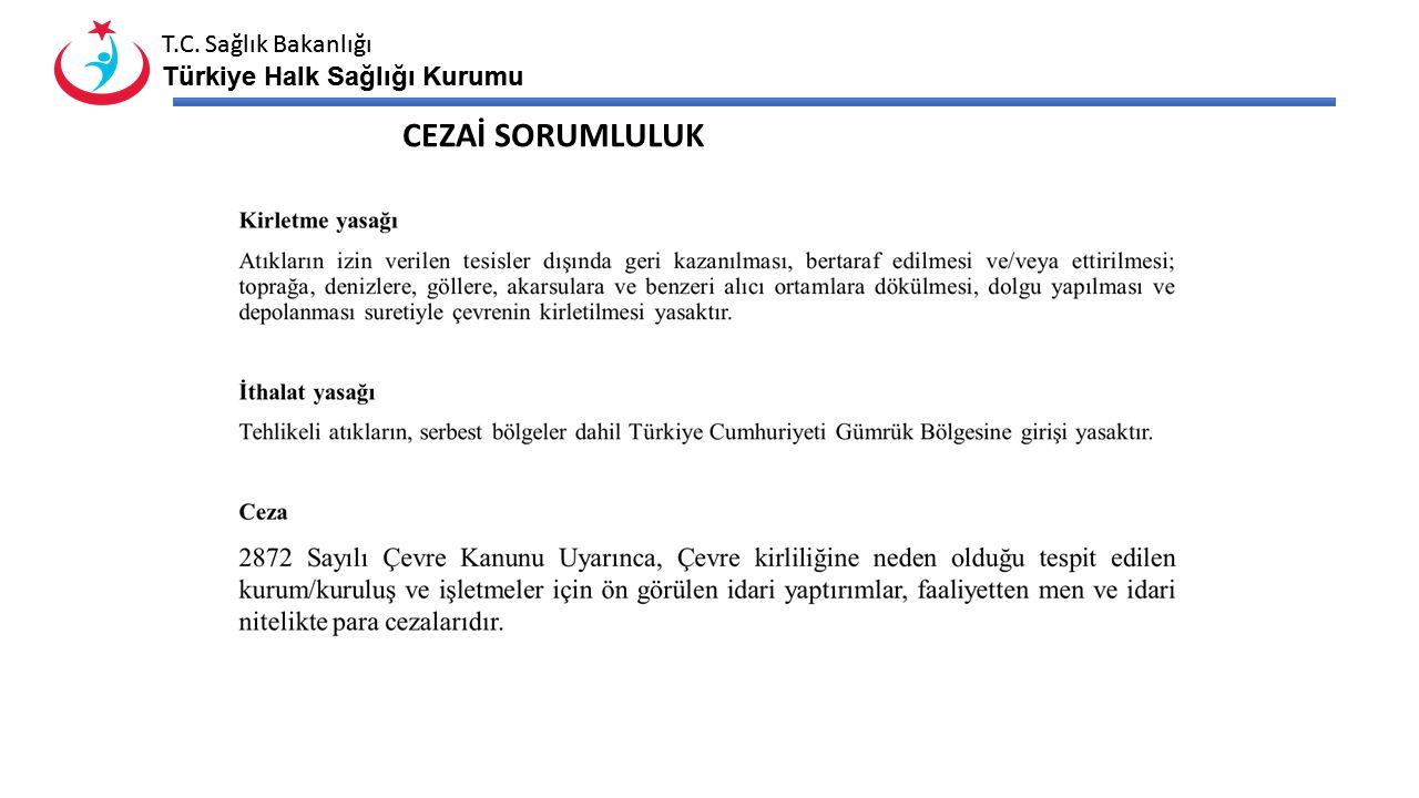 T.C. Sağlık Bakanlığı Türkiye Halk Sağlığı Kurumu T.C. Sağlık Bakanlığı Türkiye Halk Sağlığı Kurumu CEZAİ SORUMLULUK