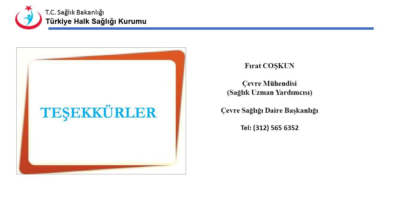 T.C. Sağlık Bakanlığı Türkiye Halk Sağlığı Kurumu T.C. Sağlık Bakanlığı Türkiye Halk Sağlığı Kurumu Fırat COŞKUN Çevre Mühendisi (Sağlık Uzman Yardımc