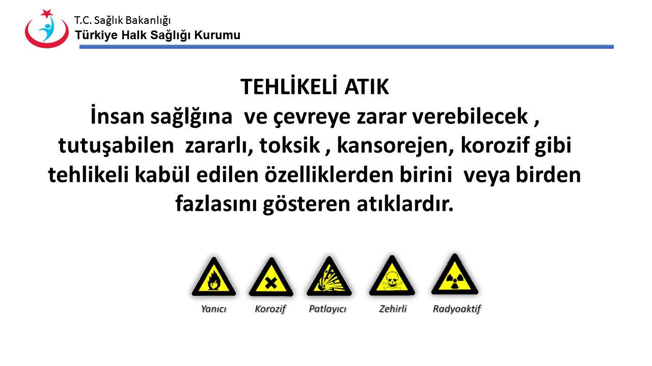 T.C. Sağlık Bakanlığı Türkiye Halk Sağlığı Kurumu T.C. Sağlık Bakanlığı Türkiye Halk Sağlığı Kurumu TEHLİKELİ ATIK İnsan sağlğına ve çevreye zarar ver
