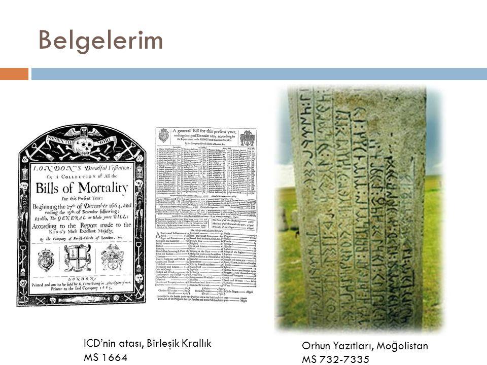 Belgelerim Orhun Yazıtları, Mo ğ olistan MS 732-7335 ICD'nin atası, Birleşik Krallık MS 1664
