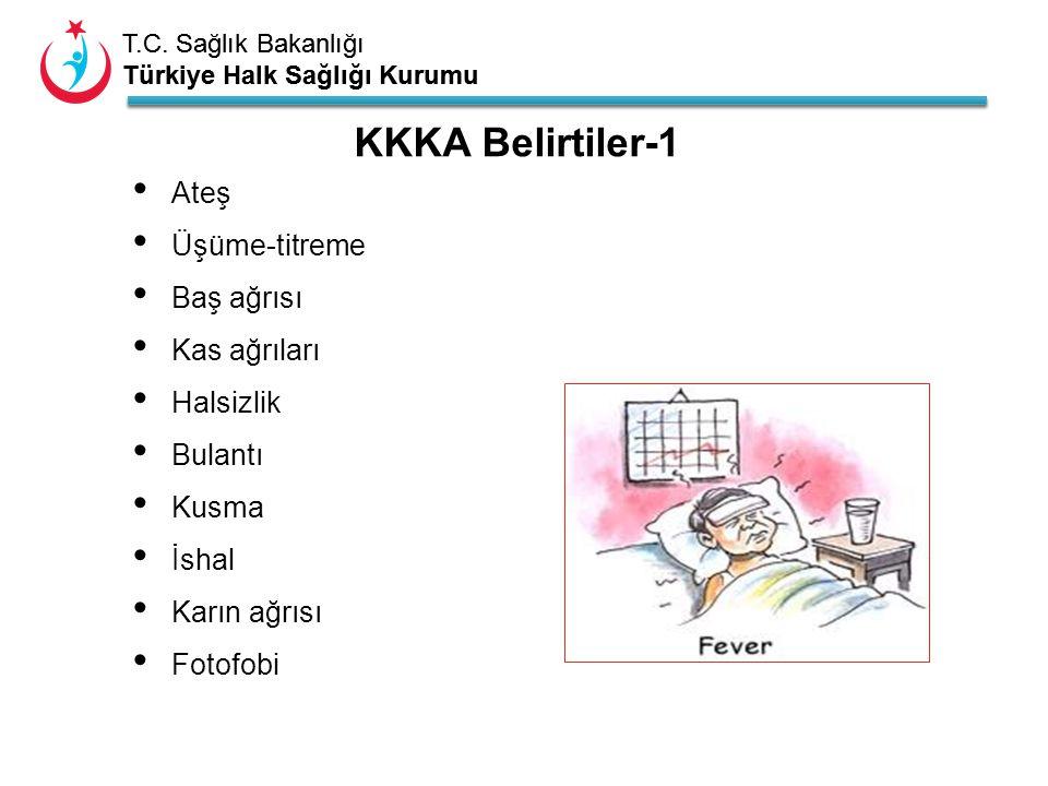 T.C. Sağlık Bakanlığı Türkiye Halk Sağlığı Kurumu T.C. Sağlık Bakanlığı Türkiye Halk Sağlığı Kurumu Ateş Üşüme-titreme Baş ağrısı Kas ağrıları Halsizl