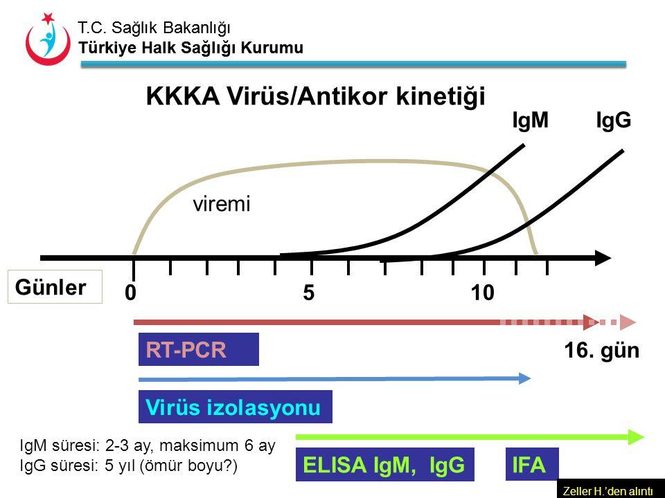 T.C. Sağlık Bakanlığı Türkiye Halk Sağlığı Kurumu T.C. Sağlık Bakanlığı Türkiye Halk Sağlığı Kurumu viremi 5 IgM RT-PCR ELISA IgM, IgGIFA KKKA Virüs/A