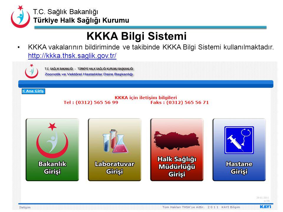 T.C. Sağlık Bakanlığı Türkiye Halk Sağlığı Kurumu T.C. Sağlık Bakanlığı Türkiye Halk Sağlığı Kurumu KKKA Bilgi Sistemi KKKA vakalarının bildiriminde v