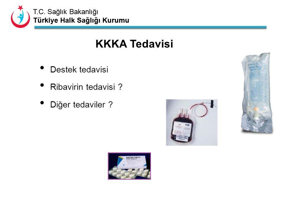 T.C. Sağlık Bakanlığı Türkiye Halk Sağlığı Kurumu T.C. Sağlık Bakanlığı Türkiye Halk Sağlığı Kurumu Destek tedavisi Ribavirin tedavisi ? Diğer tedavil