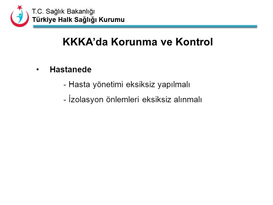 T.C. Sağlık Bakanlığı Türkiye Halk Sağlığı Kurumu T.C. Sağlık Bakanlığı Türkiye Halk Sağlığı Kurumu KKKA'da Korunma ve Kontrol Hastanede - Hasta yönet