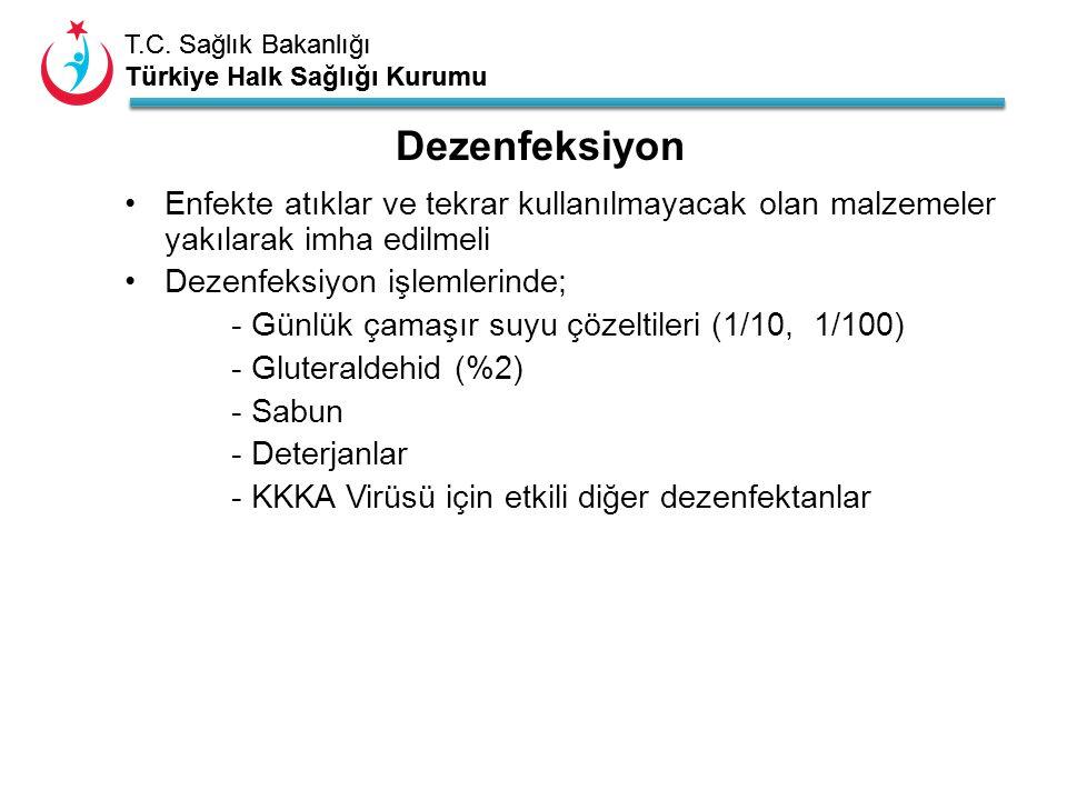 T.C. Sağlık Bakanlığı Türkiye Halk Sağlığı Kurumu T.C. Sağlık Bakanlığı Türkiye Halk Sağlığı Kurumu Enfekte atıklar ve tekrar kullanılmayacak olan mal