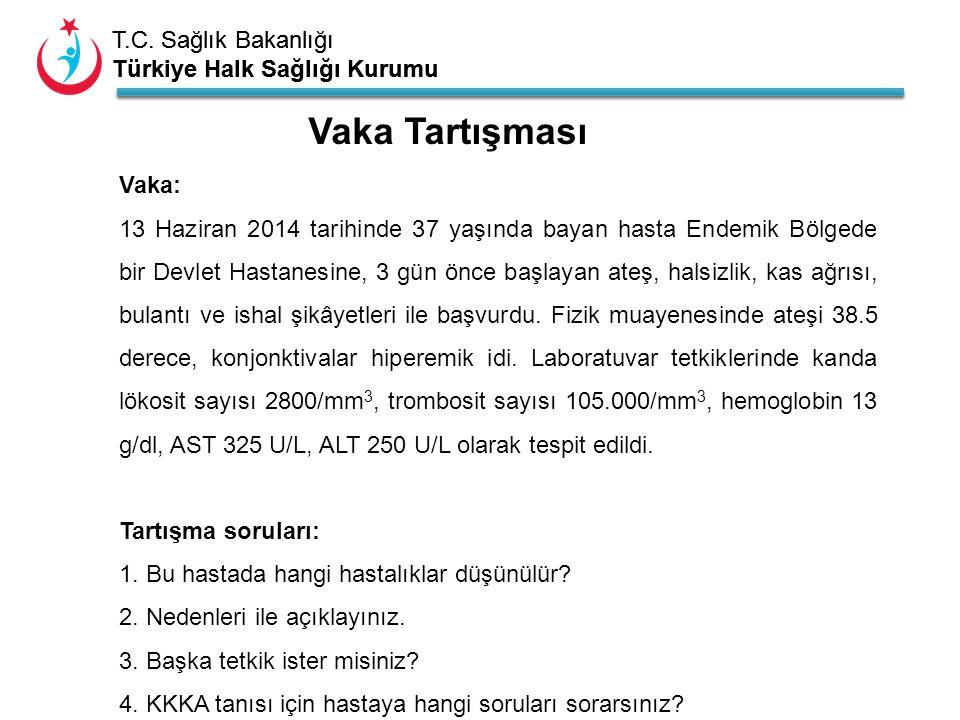 T.C. Sağlık Bakanlığı Türkiye Halk Sağlığı Kurumu T.C. Sağlık Bakanlığı Türkiye Halk Sağlığı Kurumu Vaka: 13 Haziran 2014 tarihinde 37 yaşında bayan h
