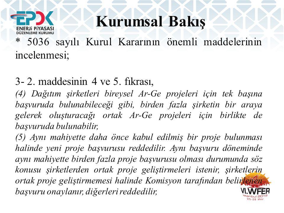 Kurumsal Bakış * 5036 sayılı Kurul Kararının önemli maddelerinin incelenmesi; 4- 2.