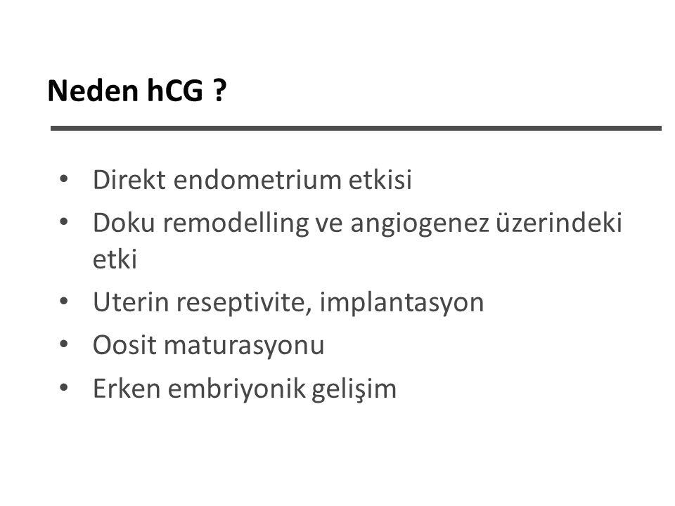 KOH süresince «rFSH + hCG» Grup I: Sadece rFSH (n=96) Grup II: rFSH+50-100iu hCG (n=94) GnRHant.