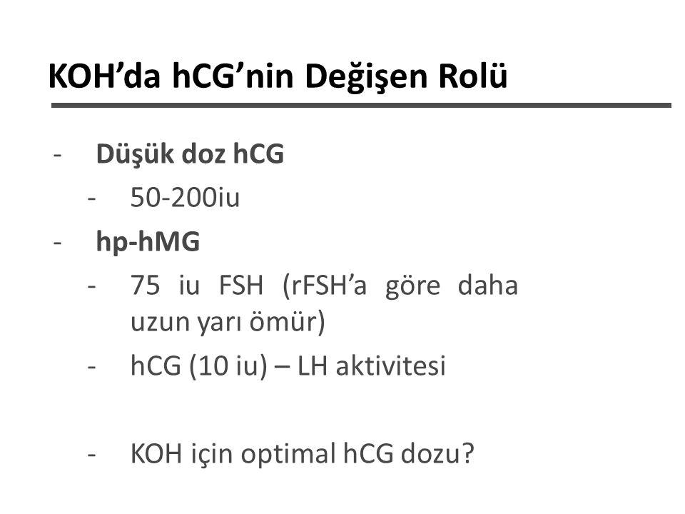Embriyo kalitesine göre klinik sonuç Ziebe, Human Reprod, 2007 hP-hMG alan hastalarda en yüksek gebelik oranları 6.