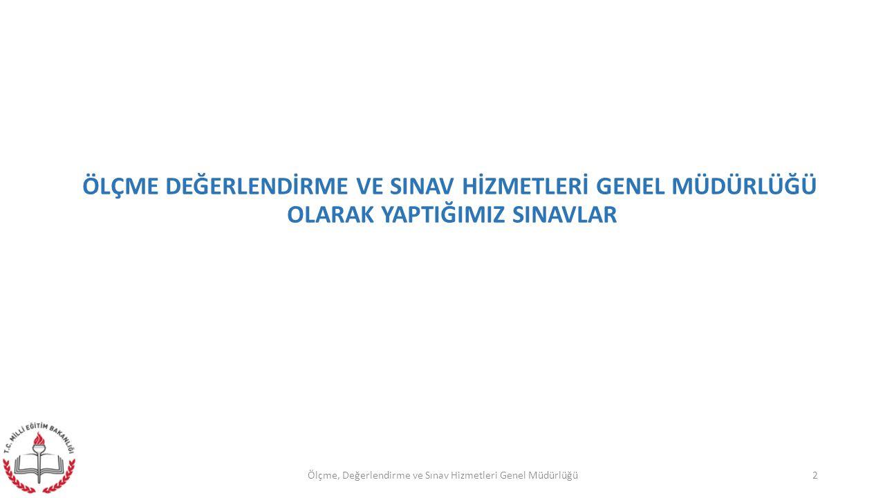 1- MERKEZİ SİSTEM SINAVLAR a) 8.