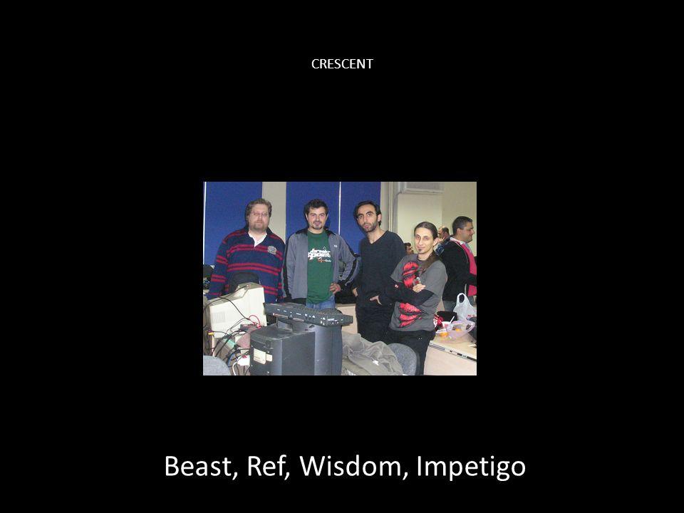 CRESCENT Beast, Ref, Wisdom, Impetigo